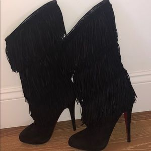 "Black Louboutin ""Forever Tina"" boot in 40"